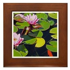 Lily And Koi Framed Tile