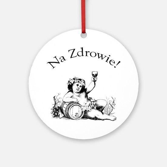 Polish Toast Wine Ornament (Round)