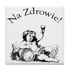 Polish Toast Wine Tile Coaster