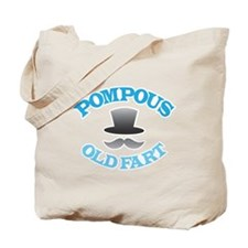 Pompous Old Fart with top hat and mustache Tote Ba
