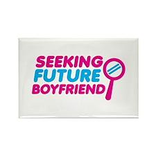 Seeking Future Boyfriend with magnifying glass Mag