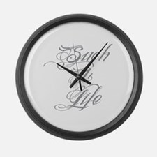 Such is Life in tattoo Large Wall Clock