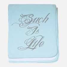 Such is Life in tattoo baby blanket