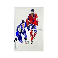 Icehockey Rectangle Magnet