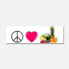 Peace Love Fruit Car Magnet 10 x 3