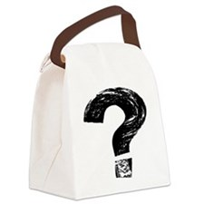 Artistic Question Mark Canvas Lunch Bag