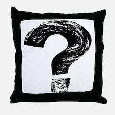Artistic Question Mark Throw Pillow