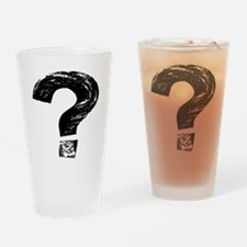 Artistic Question Mark Drinking Glass