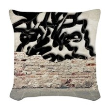 graffiti Woven Throw Pillow
