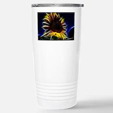 Sunflower Fractal Graph Stainless Steel Travel Mug