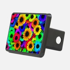 Colorful Sunflowers in a R Hitch Cover
