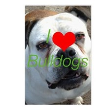 I love bulldogs Postcards (Package of 8)