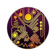 "Nazca Hummingbird (P) 3.5"" Button"