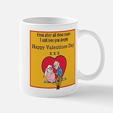 Valentines print (older couple) Mugs