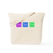 Color Row Dalmatian Tote Bag