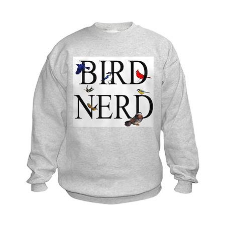 Bird Nerd Kids Sweatshirt