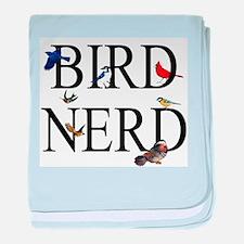 Bird Nerd baby blanket