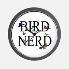 Bird Nerd Wall Clock