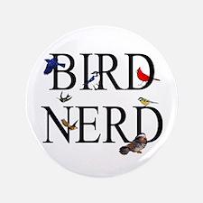 """Bird Nerd 3.5"""" Button (100 pack)"""