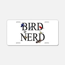Bird Nerd Aluminum License Plate