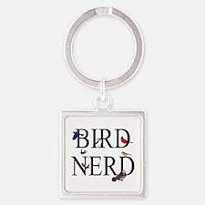 Bird Nerd Square Keychain