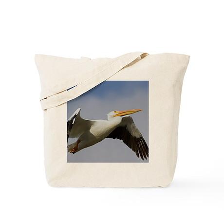 White Pelican Departure Tote Bag