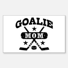 Goalie Mom Sticker (Rectangle)