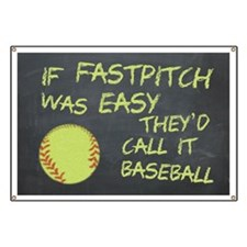 Chalkboard If Fastpitch Was Easy Banner