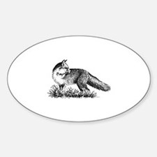 Red Fox (illustration) Decal
