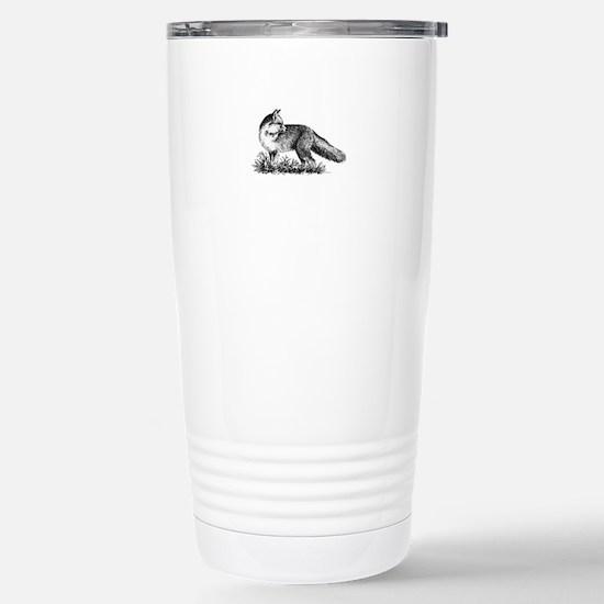 Red Fox (illustration) Travel Mug