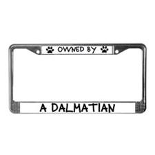 Owned by a Dalmatian License Plate Frame