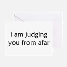 Judging From Afar Greeting Cards