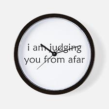 Judging From Afar Wall Clock