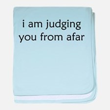 Judging From Afar baby blanket