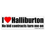No Bid Halliburton Bumper Sticker