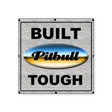 Pitbull Tough Rectangle Sticker