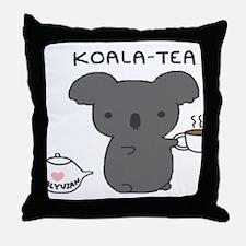 Koala Tea Throw Pillow