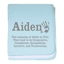 The Meaning of Aiden baby blanket