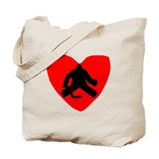 Hockey Goalie Heart Tote Bag