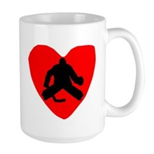 Hockey Goalie Heart Mugs