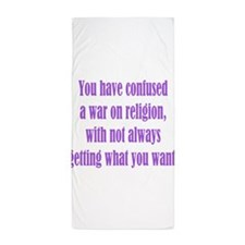 War on Religion Beach Towel