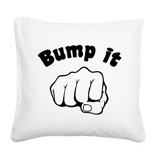 Fist Bump It Square Canvas Pillow