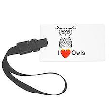 I Love Owls Luggage Tag