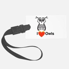 I Love Owls Luggage Tag
