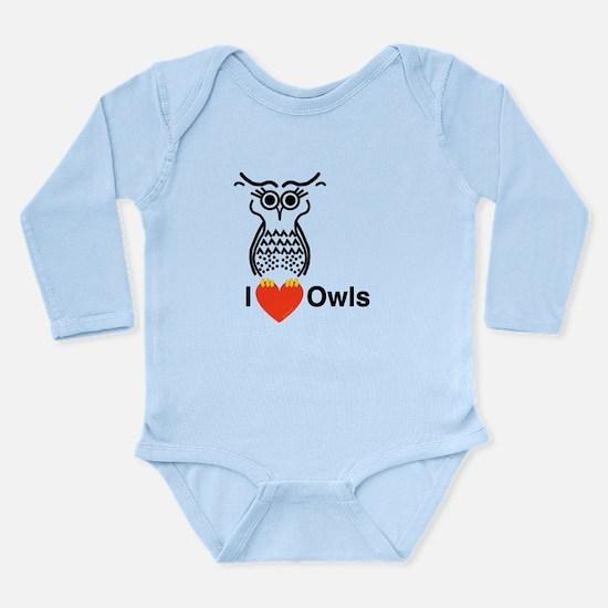 I Love Owls Long Sleeve Infant Bodysuit