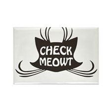 Check Meowt Kitty Cat Meow Magnets