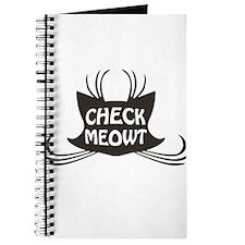 Check Meowt Kitty Cat Meow Journal