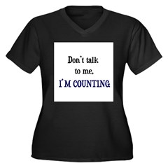 Don't Talk To Me - I'm Counti Women's Plus Size V-