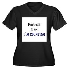 Don't Talk To Me - I'm Counti Women's Plus Size V-