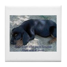 Homeless Puppy Tile Coaster